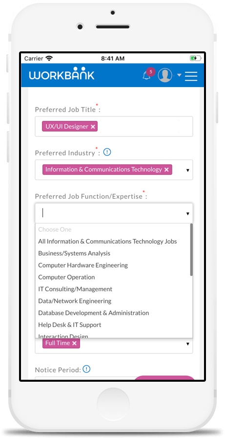Job Function Preferences Setting in Workbank